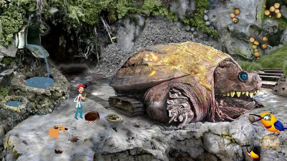 Screenshot ze hry Axel and Pixel - Recenze-her.cz
