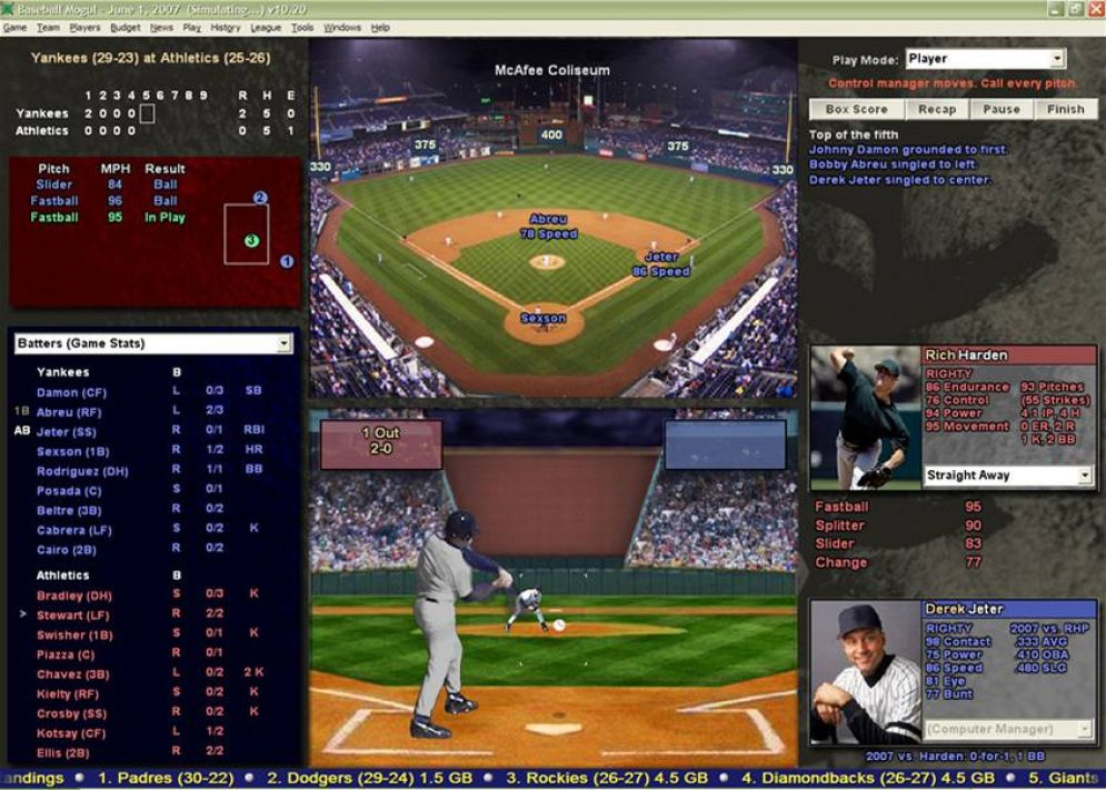 Screenshot ze hry Baseball Mogul 2010 - Recenze-her.cz