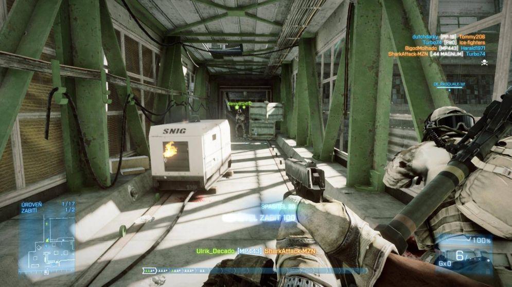 Screenshot ze hry Battlefield 3: Close Quarters - Recenze-her.cz