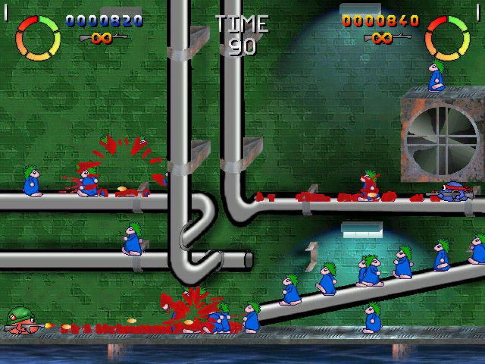 Screenshot ze hry Blip & Blop: Balls of Steel - Recenze-her.cz