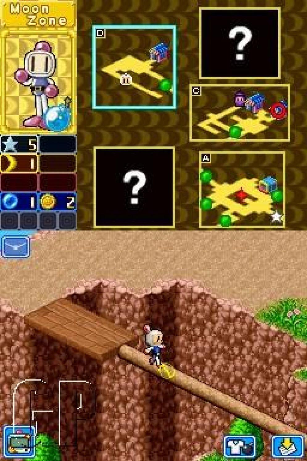 Screenshot ze hry Bomberman Land Touch! 2 - Recenze-her.cz