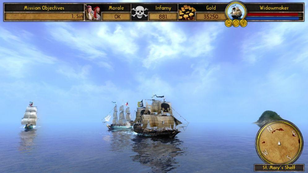 Screenshot ze hry Buccaneer: The pursuit of infamy - Recenze-her.cz