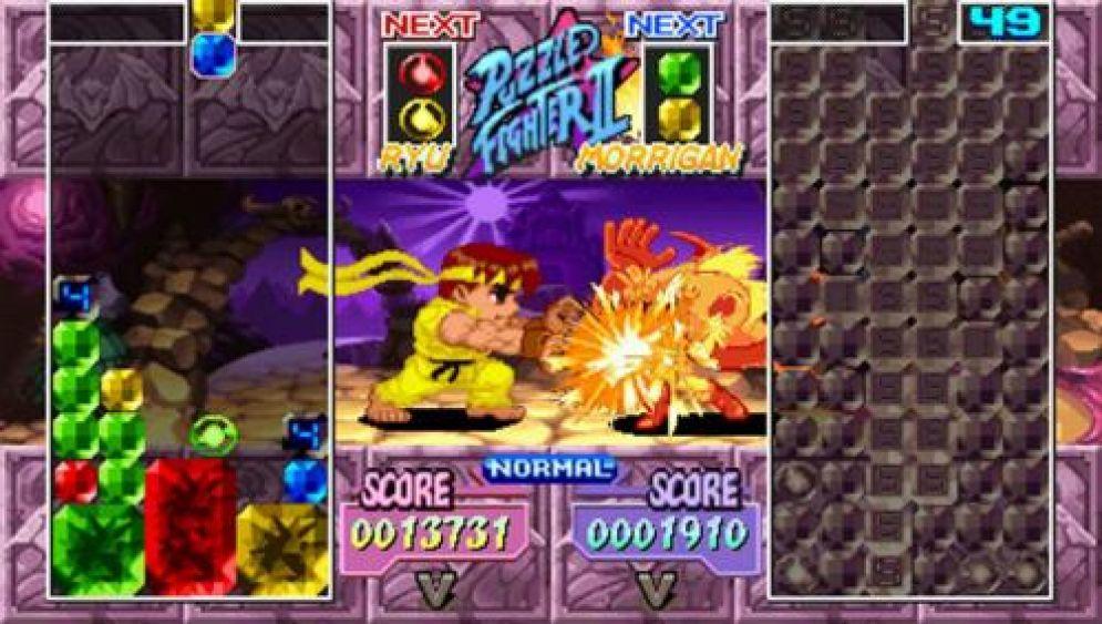 Screenshot ze hry Capcom Puzzle World - Recenze-her.cz