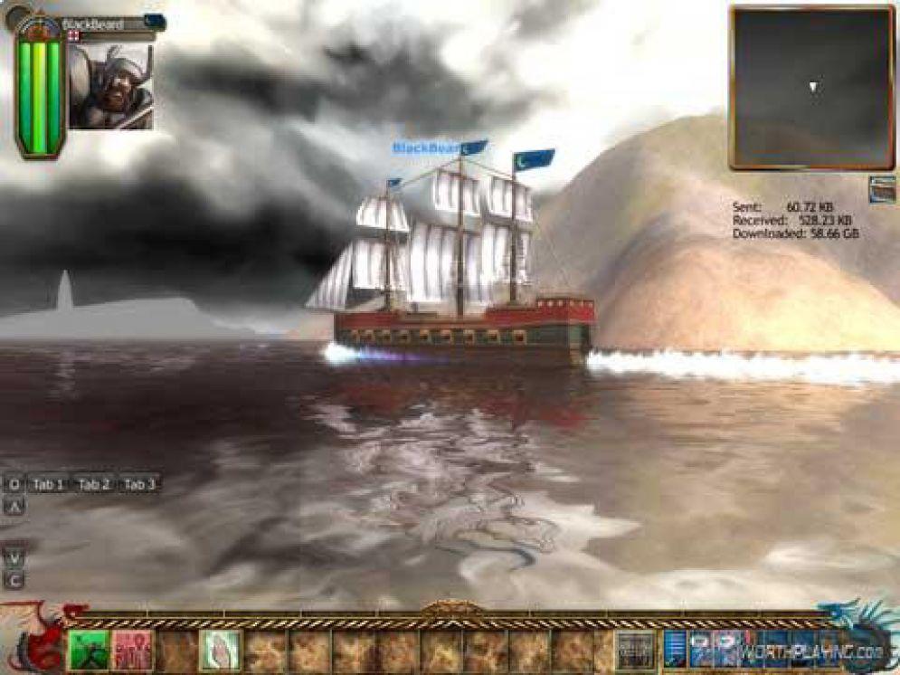 Screenshot ze hry Captains of DarkTide - Recenze-her.cz