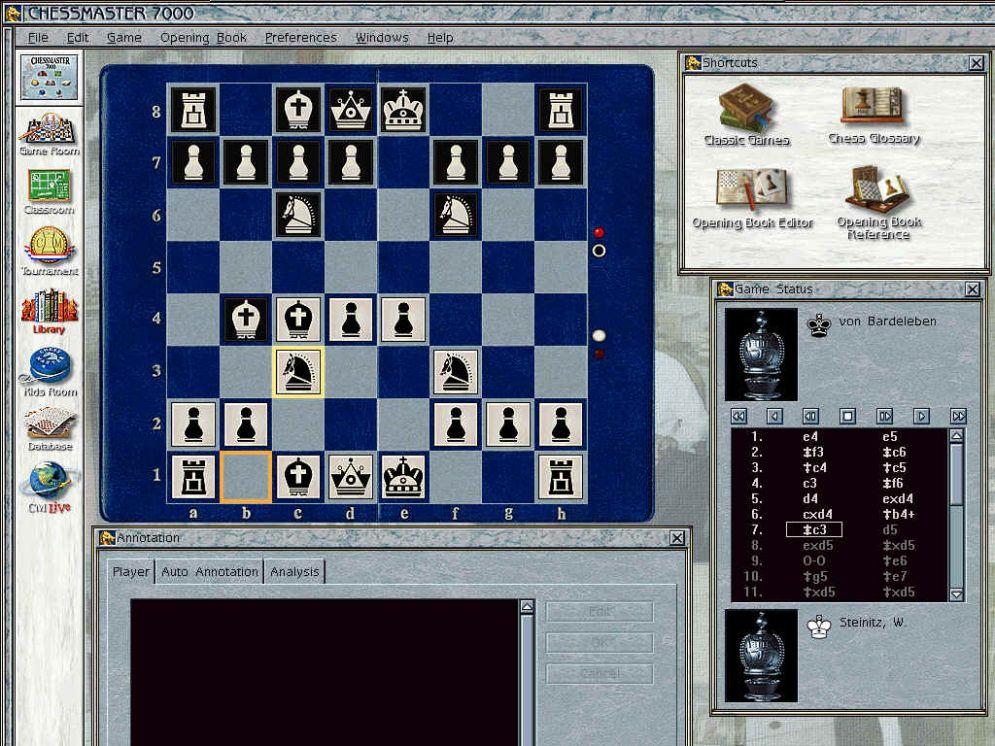 Screenshot ze hry Chessmaster 7000 - Recenze-her.cz
