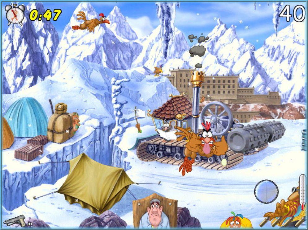 Screenshot ze hry Chicken Shoot - Recenze-her.cz