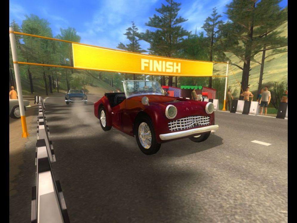 Screenshot ze hry Classic Car Racing - Recenze-her.cz