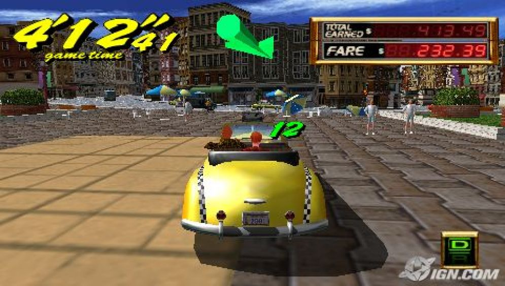 Screenshot ze hry Crazy Taxi: Fare Wars - Recenze-her.cz