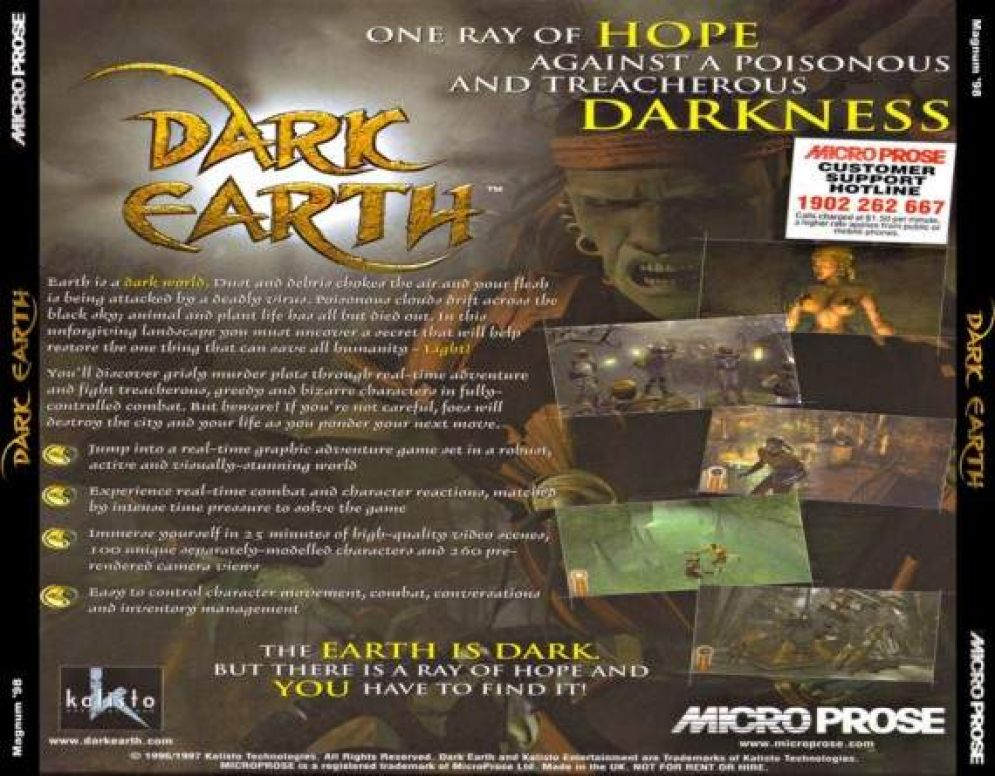 Screenshot ze hry Dark Earth - Recenze-her.cz