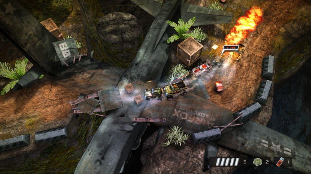 Screenshot ze hry Death Rally 2012 - Recenze-her.cz