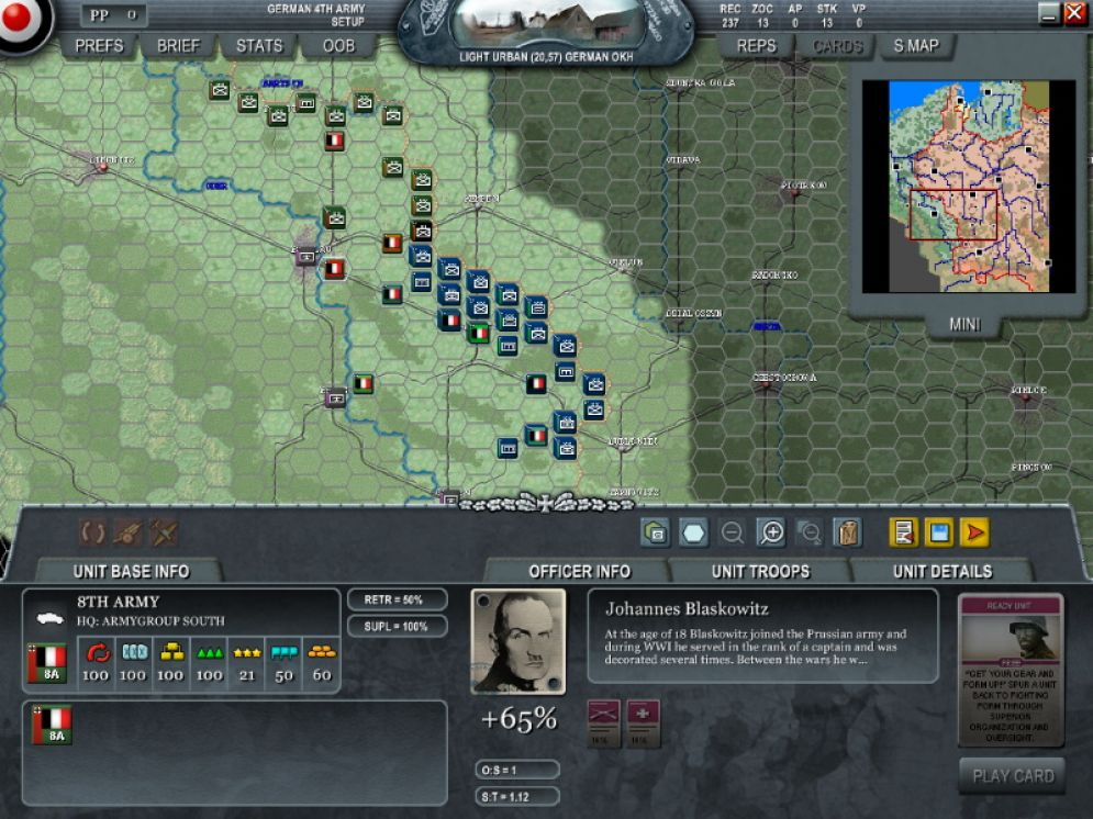Screenshot ze hry Decisive Campaigns: The Blitzkrieg from Warsaw to Paris - Recenze-her.cz