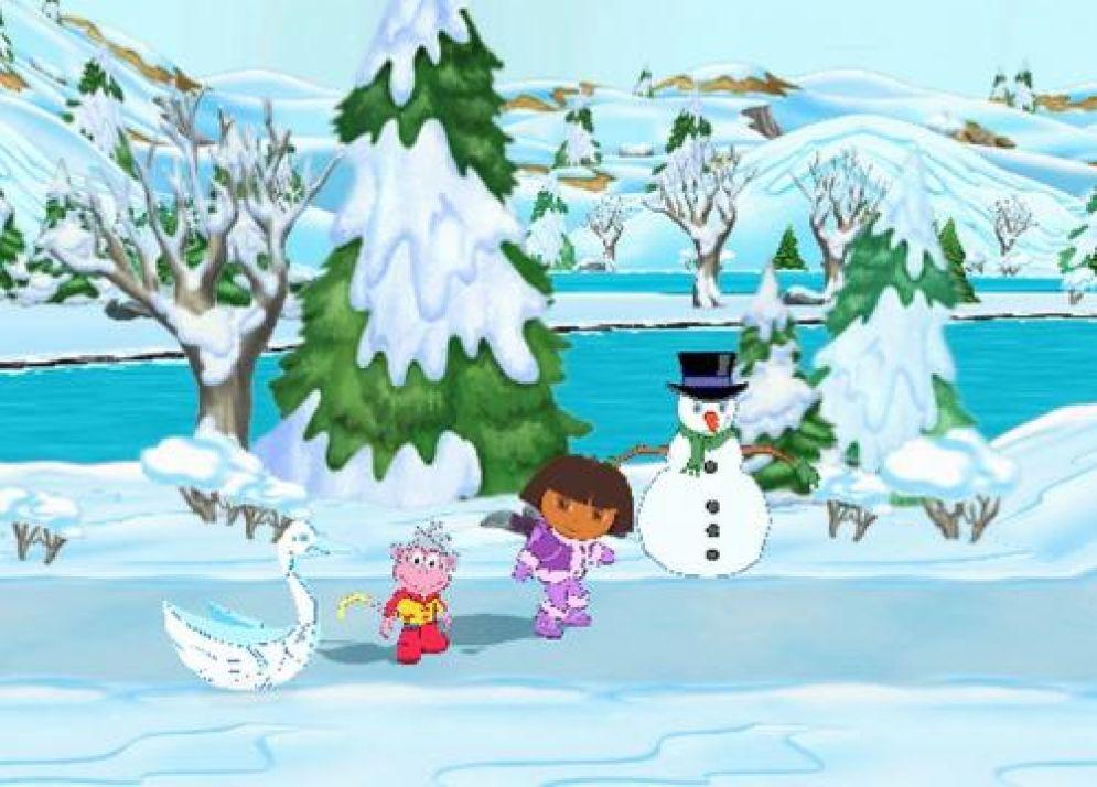 Screenshot ze hry Dora Saves the Snow Princess - Recenze-her.cz