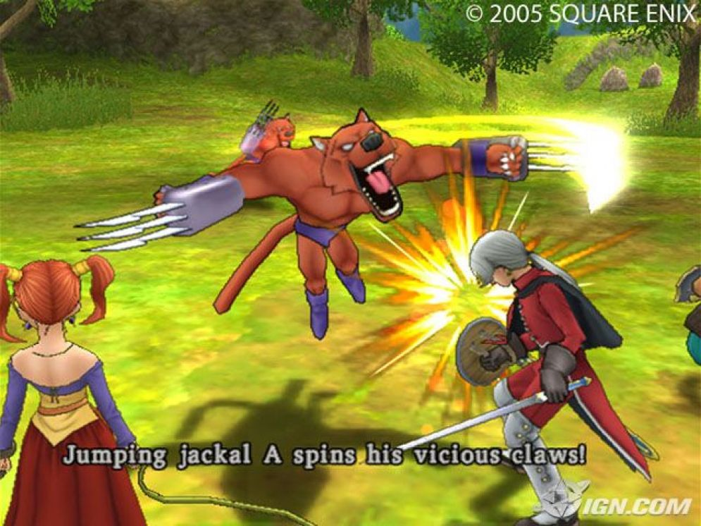 Screenshot ze hry Dragon Quest VIII: Journey of The Cursed King - Recenze-her.cz