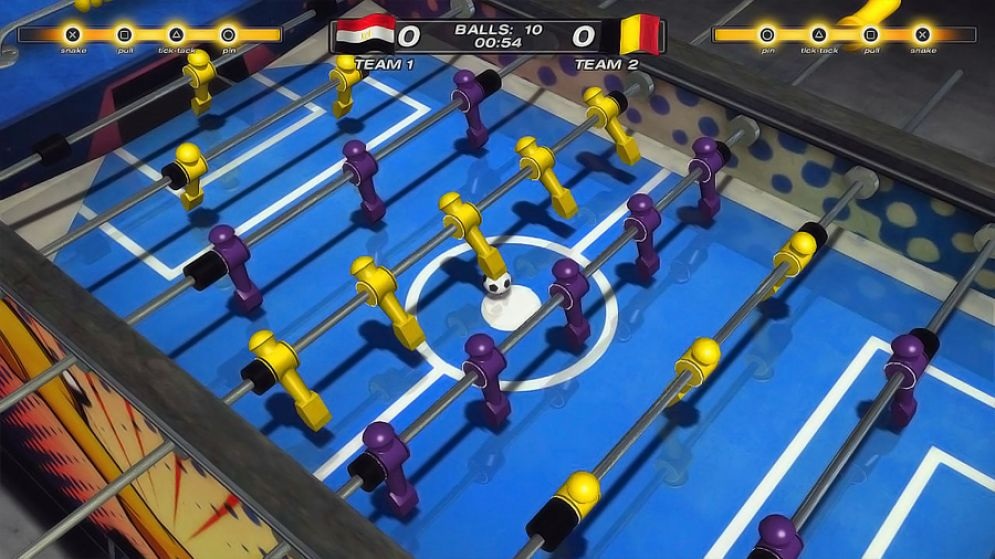 Screenshot ze hry Foosball 2012 - Recenze-her.cz