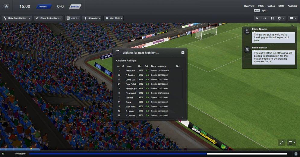 Screenshot ze hry Football Manager 2013 - Recenze-her.cz