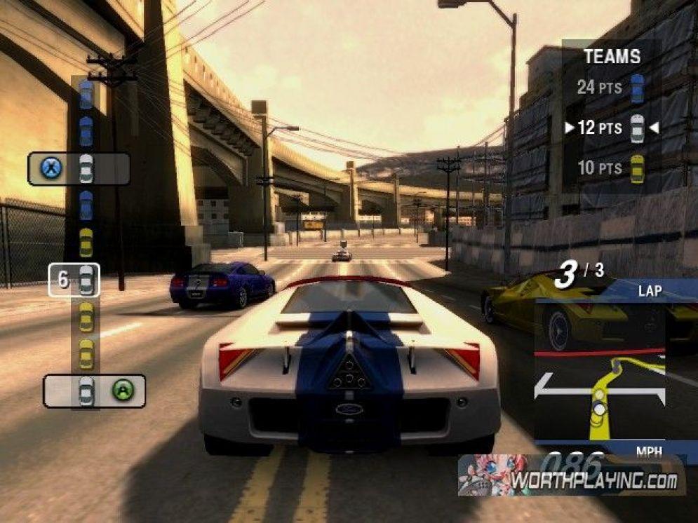 Screenshot ze hry Ford Street Racing - Recenze-her.cz