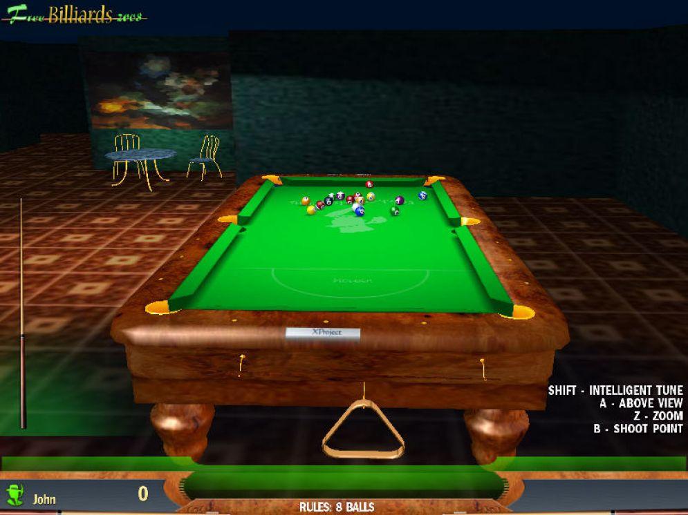 Screenshot ze hry Free Billiards 2008 - Recenze-her.cz