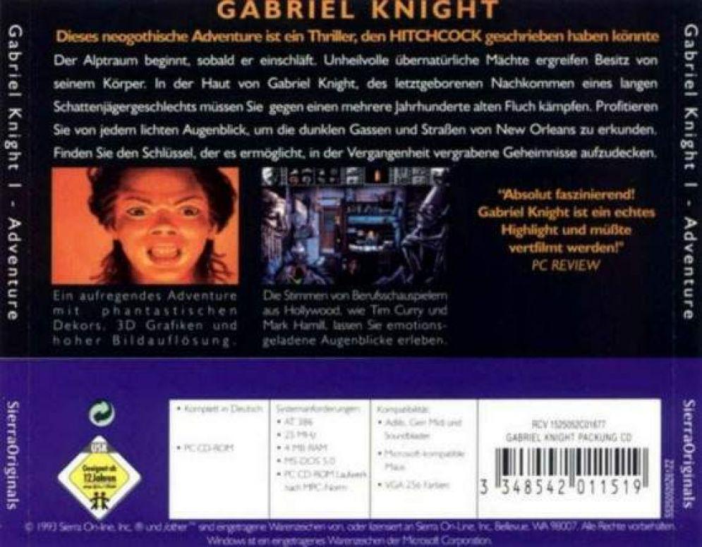 Screenshot ze hry Gabriel Knight - Recenze-her.cz