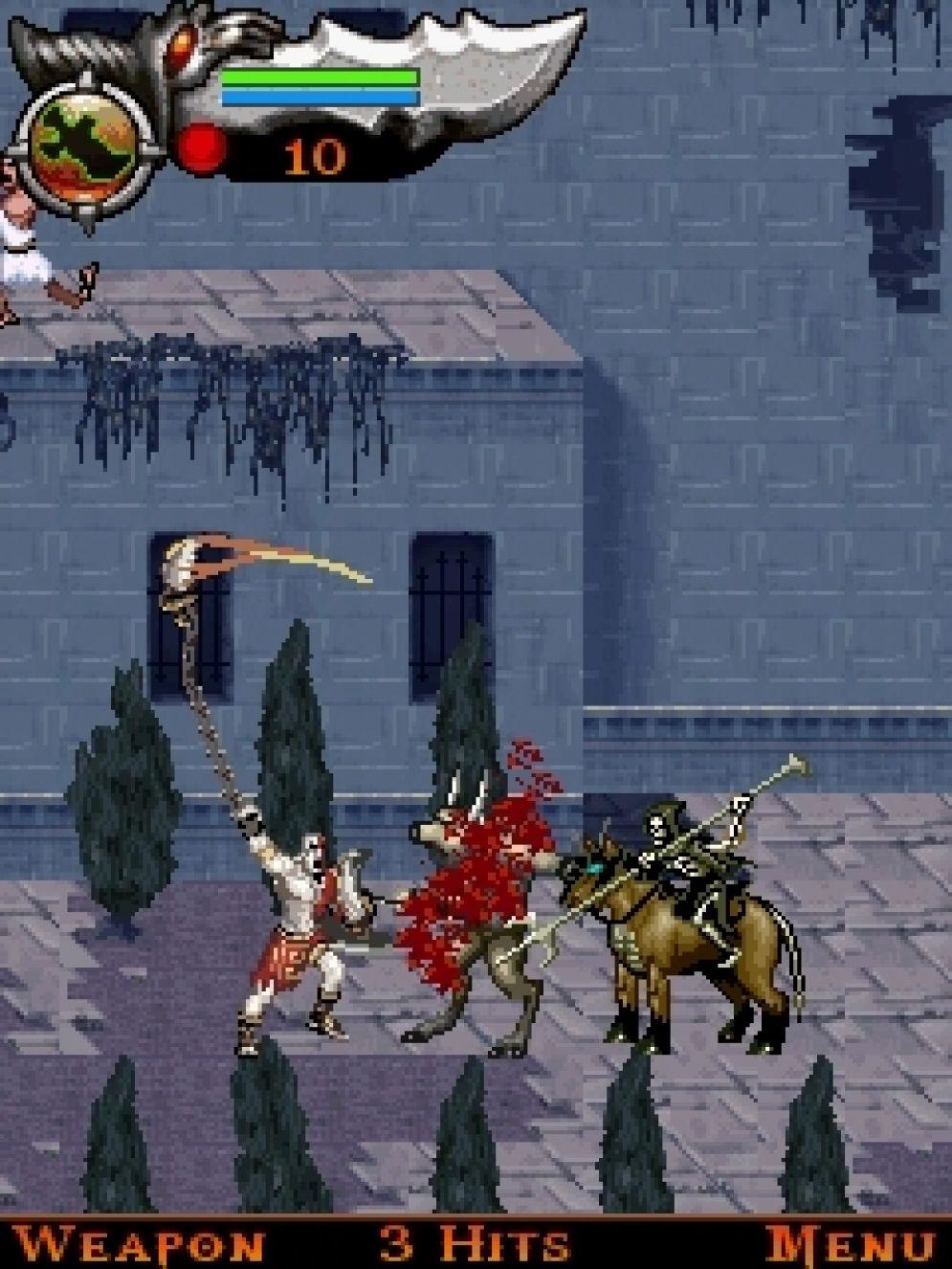 Screenshot ze hry God of War: Betrayal - Recenze-her.cz