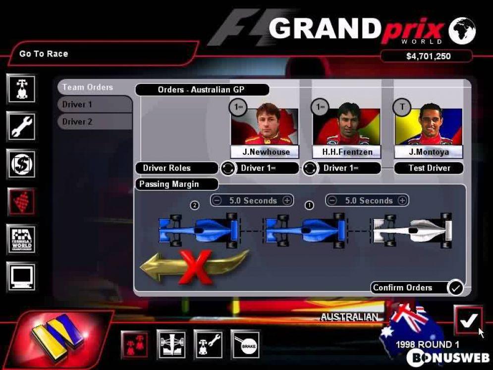 Screenshot ze hry Grand Prix World - Recenze-her.cz