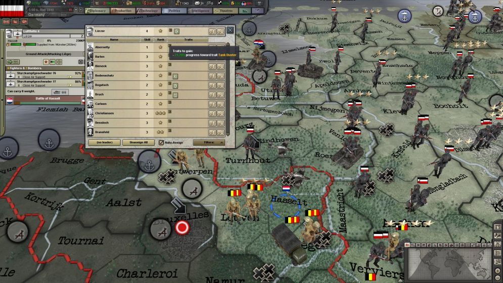 Screenshot ze hry Hearts of Iron 3: Their Finest Hour - Recenze-her.cz