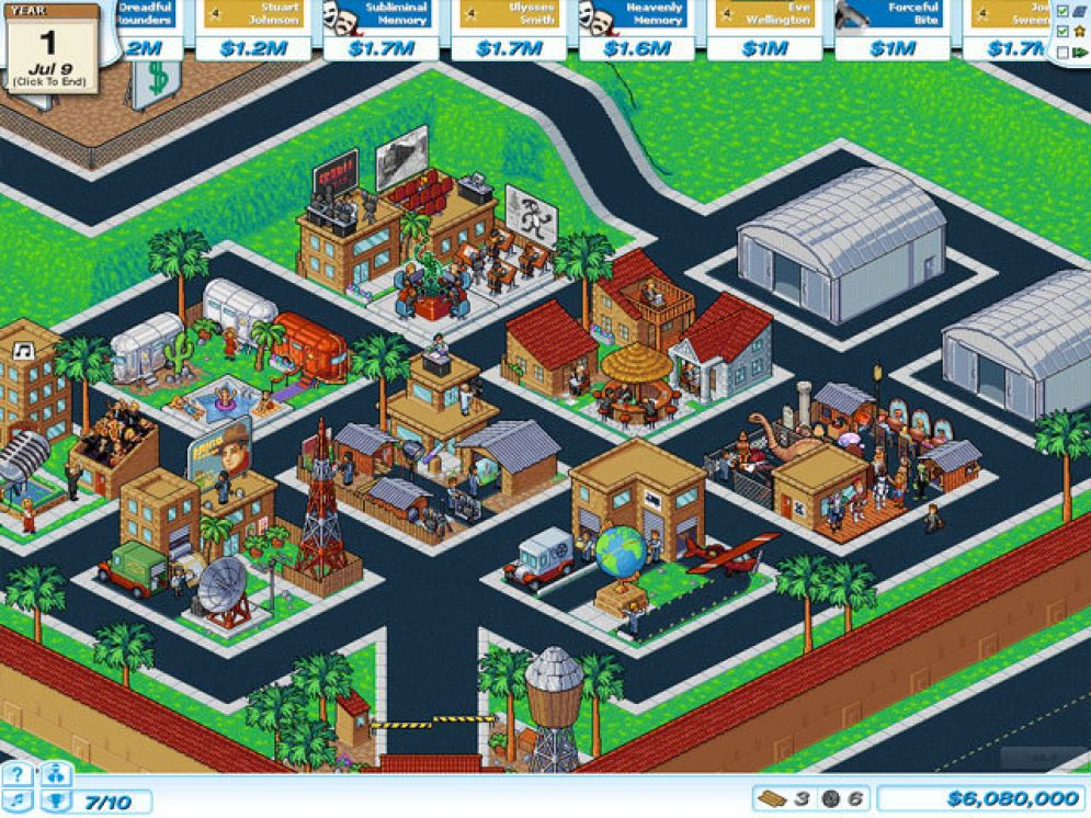 Screenshot ze hry Hollywood Tycoon - Recenze-her.cz