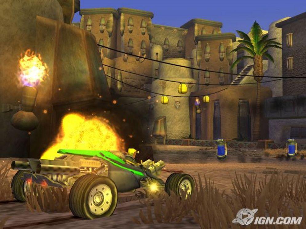 Screenshot ze hry Jak X: Combat Racing  - Recenze-her.cz