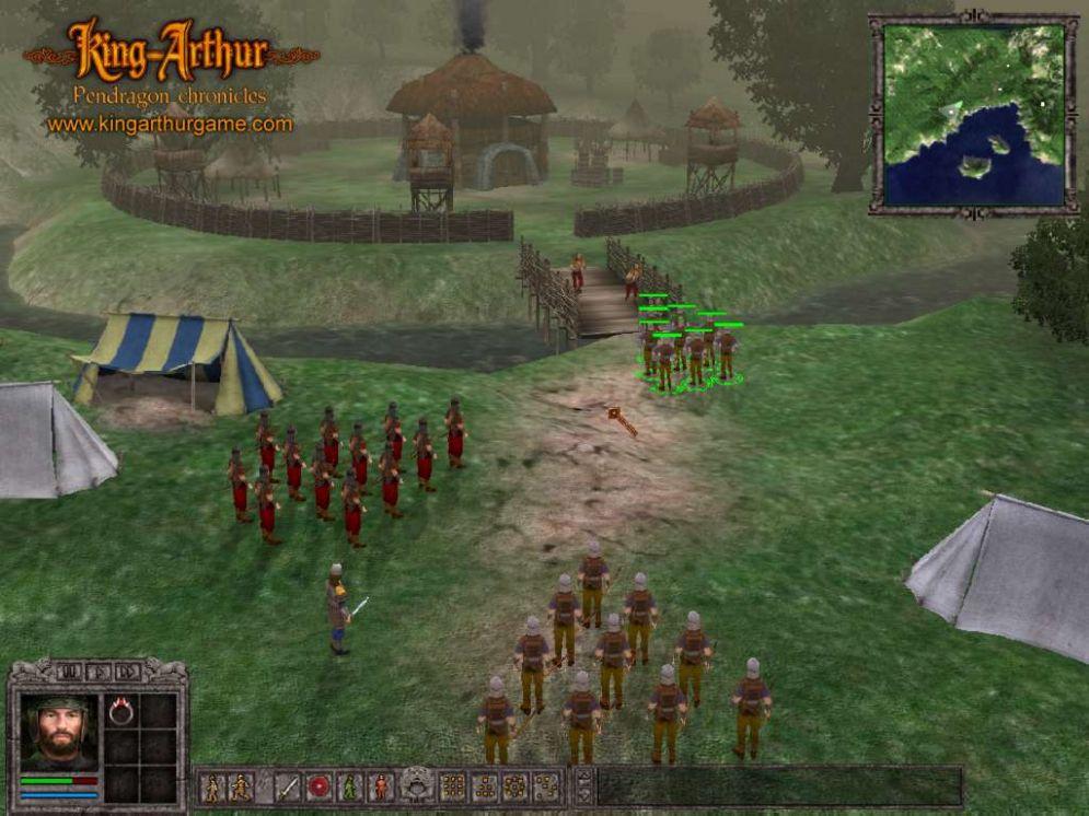 Screenshot ze hry King Arthur: Pendragon Chronicles - Recenze-her.cz