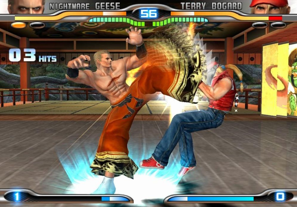 Screenshot ze hry King of Fighters Maximum Impact 2 - Recenze-her.cz