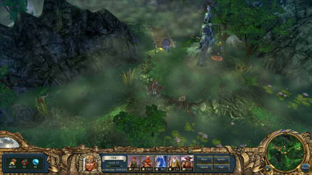 Screenshot ze hry King's Bounty: Warriors of the North - Ice and Fire  - Recenze-her.cz