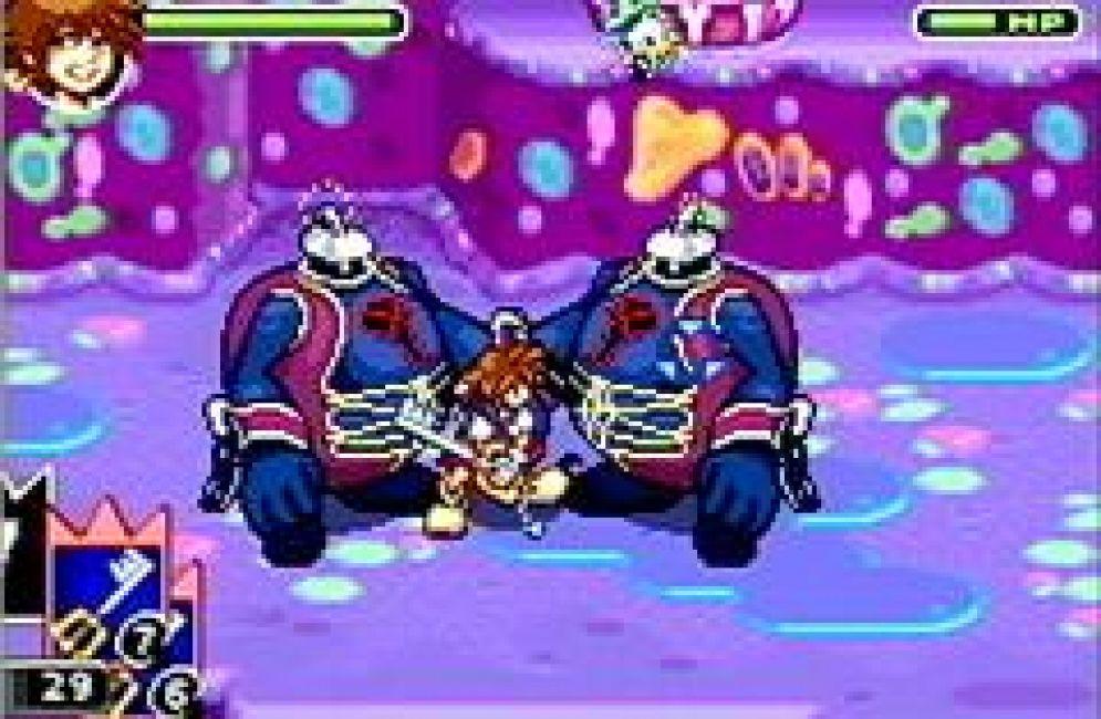 Screenshot ze hry Kingdom Hearts: Chain of Memories - Recenze-her.cz