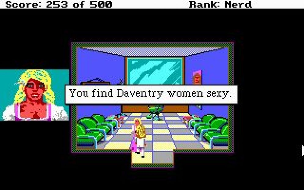 Screenshot ze hry Leisure Suit Larry 2: Goes Looking for Love - Recenze-her.cz