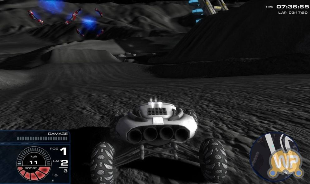 Screenshot ze hry Lunar Racing Championship - Recenze-her.cz