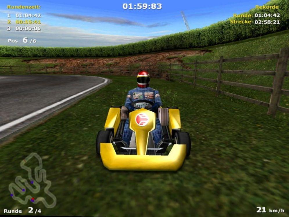 Screenshot ze hry M. Schumacher Racing World Kart 2002 - Recenze-her.cz