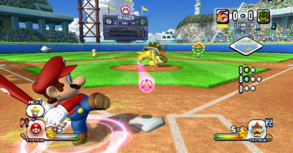 Screenshot ze hry Mario Super Sluggers - Recenze-her.cz