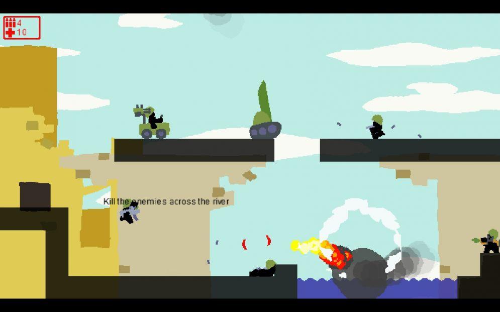 Screenshot ze hry Modern Warfare 2D - Recenze-her.cz