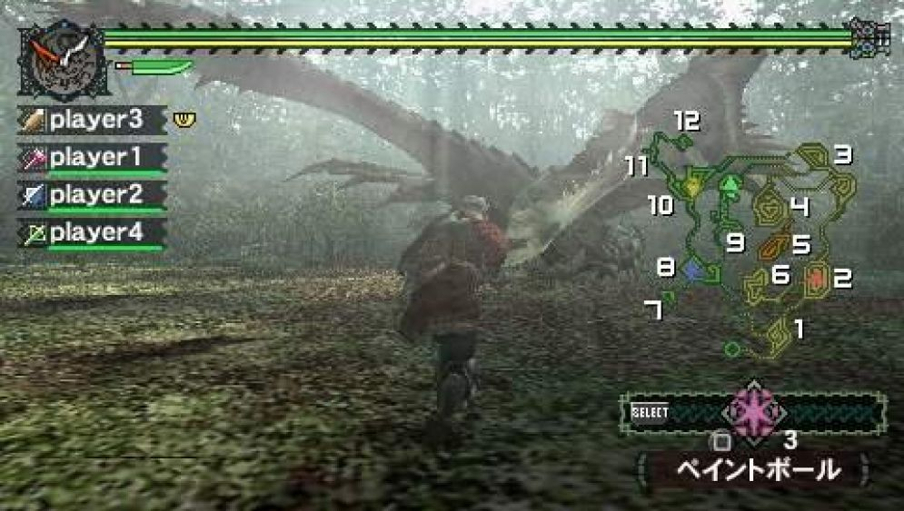 Screenshot ze hry Monster Hunter Freedom - Recenze-her.cz