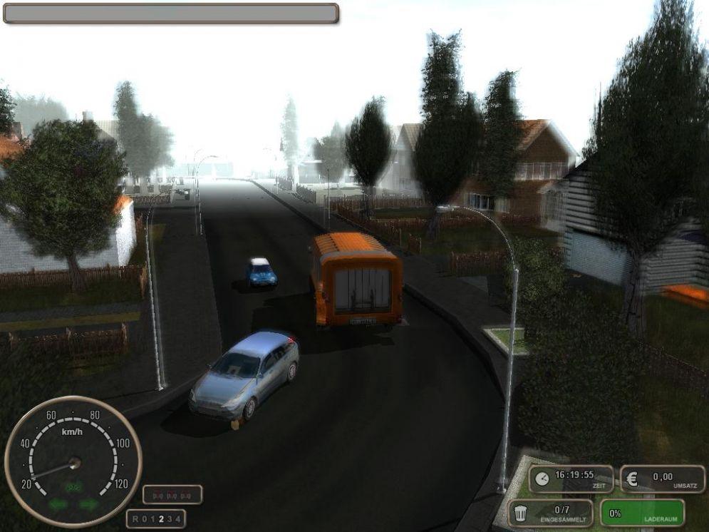 Screenshot ze hry Müllabfuhr-Simulator 2008 - Recenze-her.cz