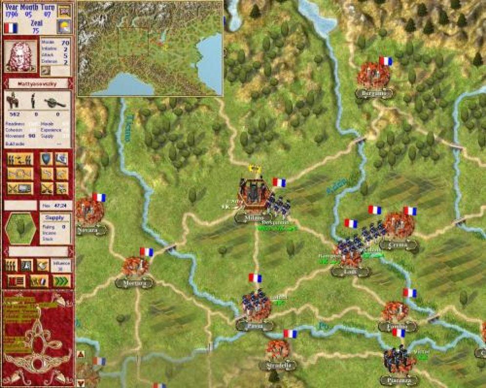 Screenshot ze hry Napoleon in Italy! - Recenze-her.cz