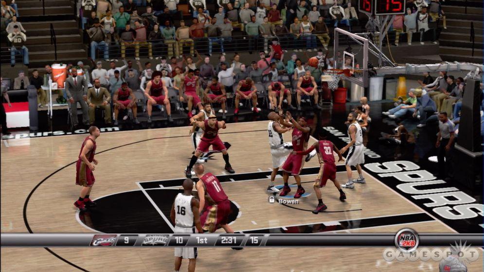 Screenshot ze hry NBA 2K8 - Recenze-her.cz