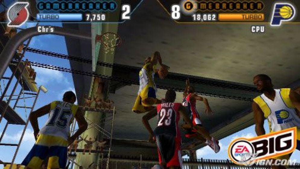 Screenshot ze hry NBA Street: Showdown - Recenze-her.cz