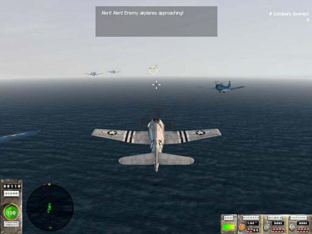 Screenshot ze hry Pacific Warriors 2 - Dogfight - Recenze-her.cz