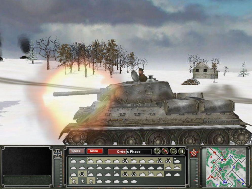 Screenshot ze hry Panzer Command: Operation Winter Storm - Recenze-her.cz