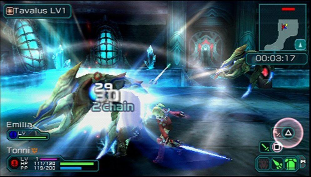 Screenshot ze hry Phantasy Star Portable 2 - Recenze-her.cz