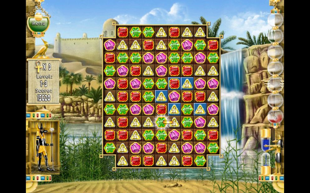 Screenshot ze hry Pharaoh Puzzle - Recenze-her.cz