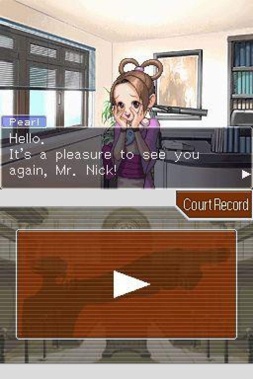 Screenshot ze hry Phoenix Wright: Ace Attorney Trials and Tribulations - Recenze-her.cz