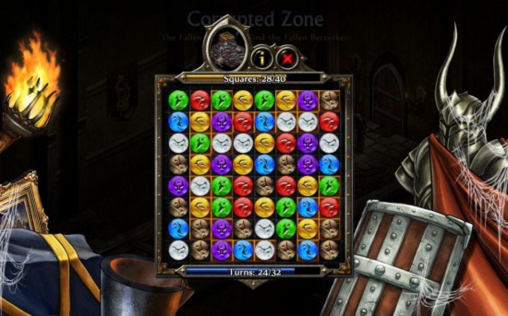 Screenshot ze hry Puzzle Quest 2 - Recenze-her.cz