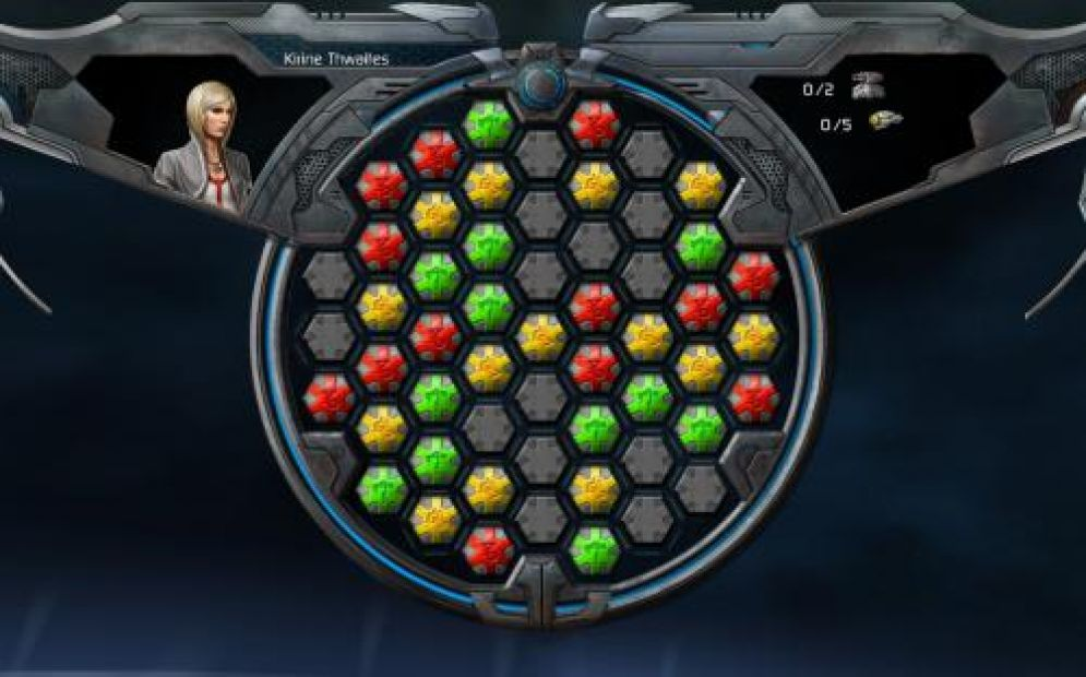 Screenshot ze hry Puzzle Quest: Galactrix - Recenze-her.cz