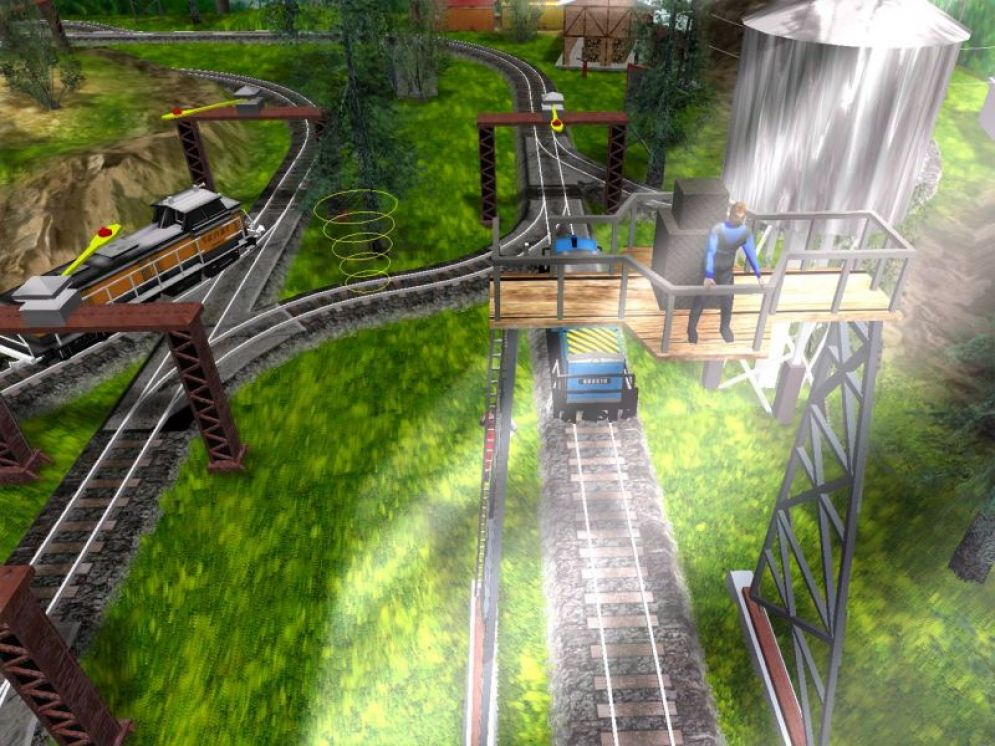 Screenshot ze hry Rail Runner 3D - Recenze-her.cz