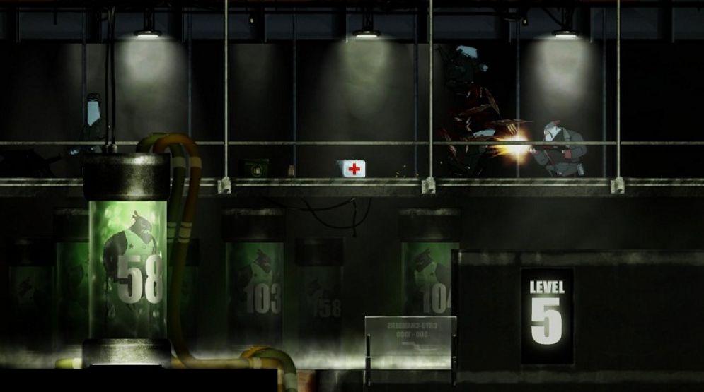 Screenshot ze hry Rocketbirds: Hardboiled Chicken - Recenze-her.cz